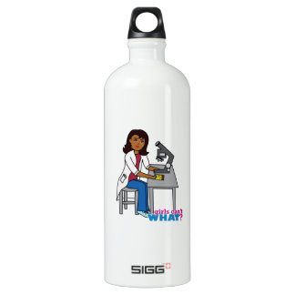 Scientist Girl - Dark Aluminum Water Bottle