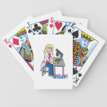 Scientist Girl - Light/Blonde Bicycle Poker Deck