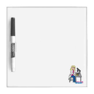 Scientist Girl - Light/Blonde Dry Erase Board