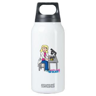 Scientist Girl - Light/Blonde Insulated Water Bottle