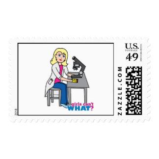 Scientist Girl - Light/Blonde Postage Stamps