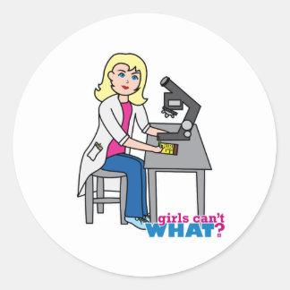 Scientist Girl - Light/Blonde Stickers