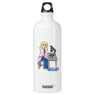 Scientist Girl - Light/Blonde Water Bottle