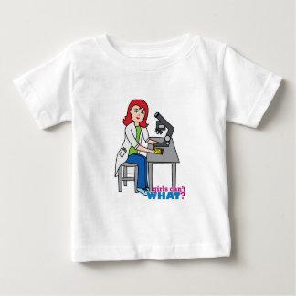 Scientist Girl - Light/Red Baby T-Shirt