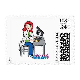 Scientist Girl - Light/Red Postage