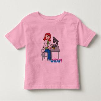 Scientist Girl - Light/Red Toddler T-shirt
