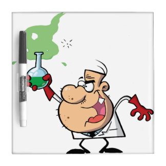 Scientist Holding a Green Portion Dry Erase Board