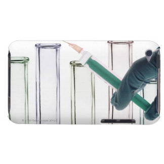 Scientist Holding Syringe iPod Touch Cover