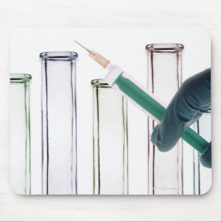 Scientist Holding Syringe Mouse Pad