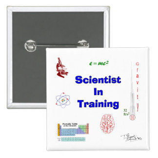 Scientist in Training 2 Inch Square Button