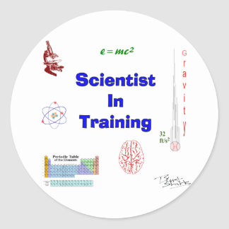 Scientist in Training Classic Round Sticker