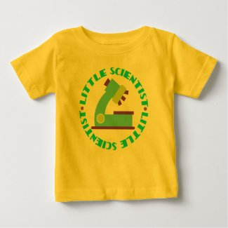 Scientist Kids Science Microscope Cute Baby Tee