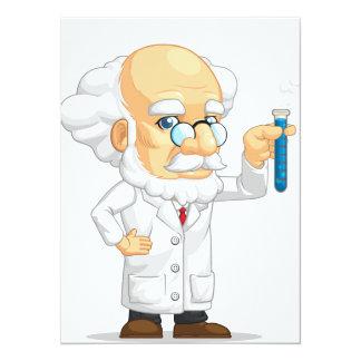 Scientist or Professor Holding Laboratorium Chemic Card