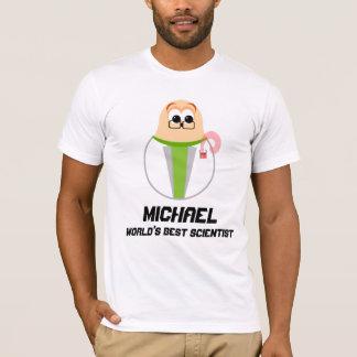Scientist Personalized (Worlds Best) Mens T-shirt
