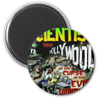 scientist rids hollywood 2 inch round magnet