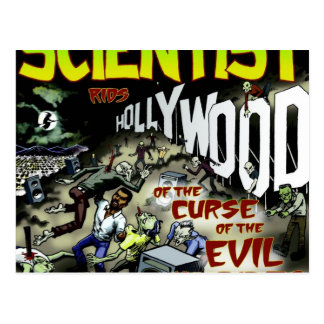 Scientist rids Hollywood of the Curse Products Postcard