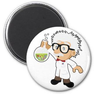 Scientist with beaker 2 inch round magnet