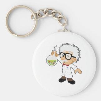 Scientist with beaker keychain