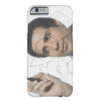 Scientist writing chemical formula 2 barely there iPhone 6 case