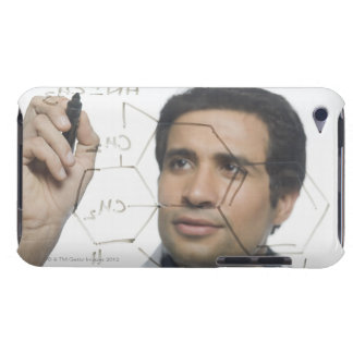 Scientist writing chemical formula 2 barely there iPod covers