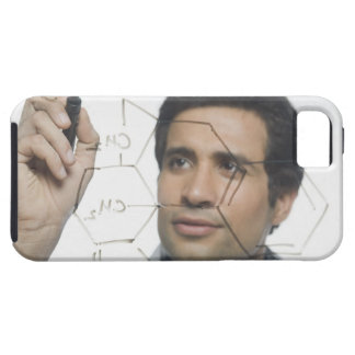 Scientist writing chemical formula 2 iPhone 5 covers