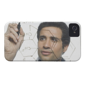 Scientist writing chemical formula 2 iPhone 4 covers