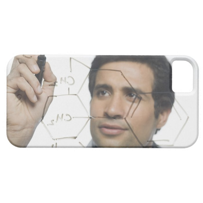 Scientist writing chemical formula 2 iPhone SE/5/5s case