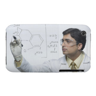 Scientist writing chemical formula iPhone 3 cover