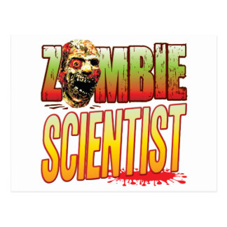 Scientist Zombie Head Post Cards