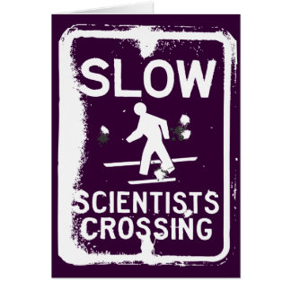 Scientists Crossing Greeting Cards