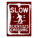 Scientists Crossing Greeting Card