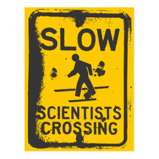Scientists Crossing Post Card