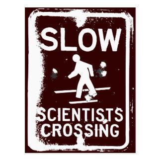 Scientists Crossing Postcards