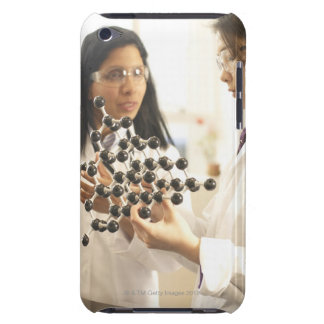 Scientists examining molecular model Case-Mate iPod touch case