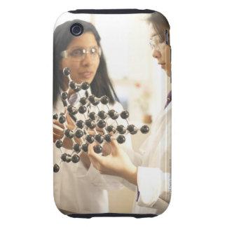 Scientists examining molecular model tough iPhone 3 case