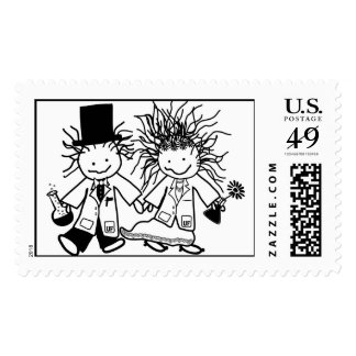 Scientists get hitched postage