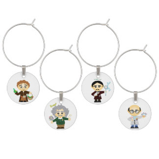 Scientists II Wine Glass Charm
