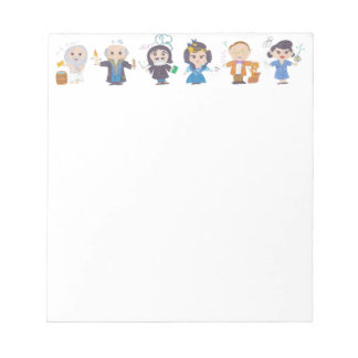 Scientists in a row II Notepad