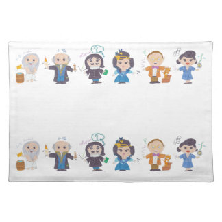 Scientists in a row II Placemat
