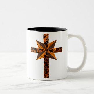 Scientology-Mottled Two-Tone Coffee Mug