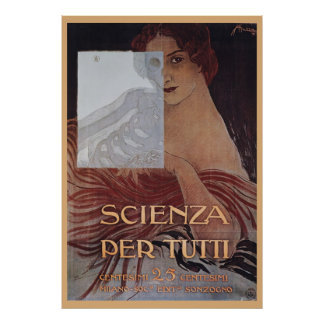 Scienza Per Tutti Art Nouveau Poster