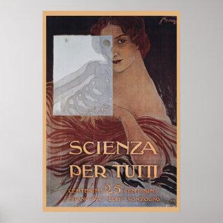 Scienza Per Tutti Art Nouveau Print