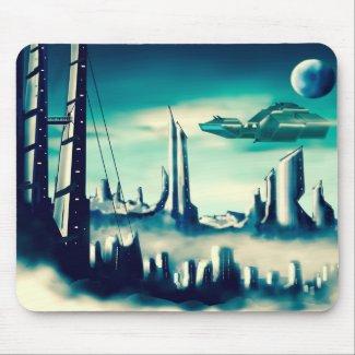 Scifi City Mousepad