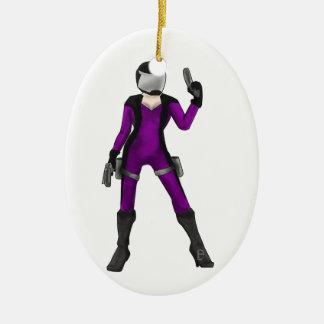 Scifi COP Ceramic Ornament