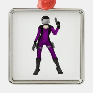 Scifi COP Metal Ornament