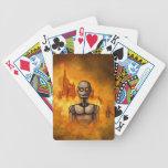 scifi de la revolución del robot baraja de cartas