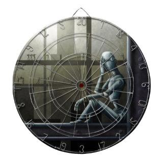 scifi enterado del robot del uno mismo tablero dardos