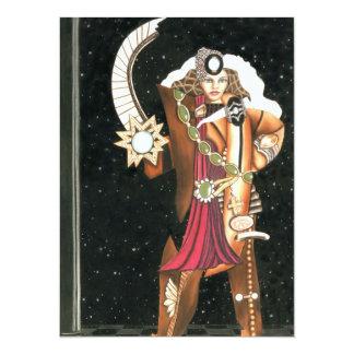 "SciFi Fantasy Star Princess Warrior CricketDiane 5.5"" X 7.5"" Invitation Card"