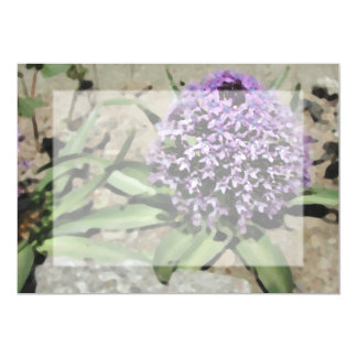 Scilla. Pretty purple flower. Card