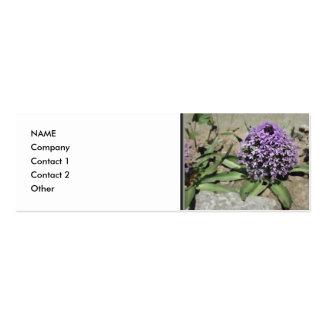 Scilla. Pretty purple flower. Mini Business Card